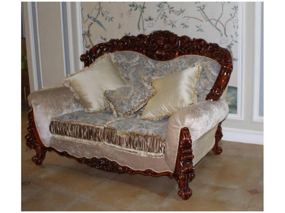 Fanbel: Шейх: диван 2-х местный  (орех, ткань)