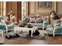 Fanbel: Лино: диван 3-х местный  (белый, ткань)