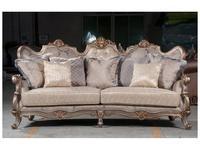 Fanbel: Версаль: комплект мягкой мебели  (серебро, ткань)