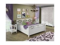 De Luxe: Океан: кровать двуспальная 140х200 (белый)
