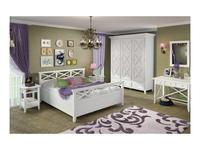 De Luxe: Океан: кровать 180х200 (белый)