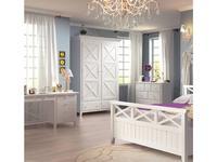 De Luxe: Океан: шкаф 2-х дверный Н.225 (белый)