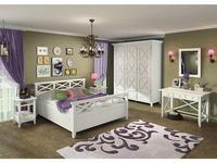 De Luxe: Океан: спальная комната с 3-х дверным шкафом (белый)