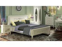 De Luxe: Романс: кровать 140х200 (белый, узор)