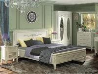 De Luxe: Романс: кровать 180х200 (белый, узор)