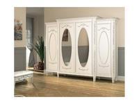 De Luxe: Романс: шкаф 4-х дверный (белый, узор)