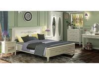 De Luxe: Романс: спальная комната с 2-х дверным шкафом (белый, узор)