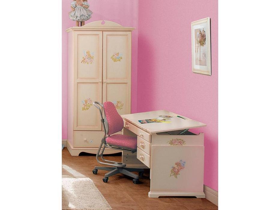 De Luxe: Любимая сказка: стол письменный регулируемый (слоновая кость, без росписи)