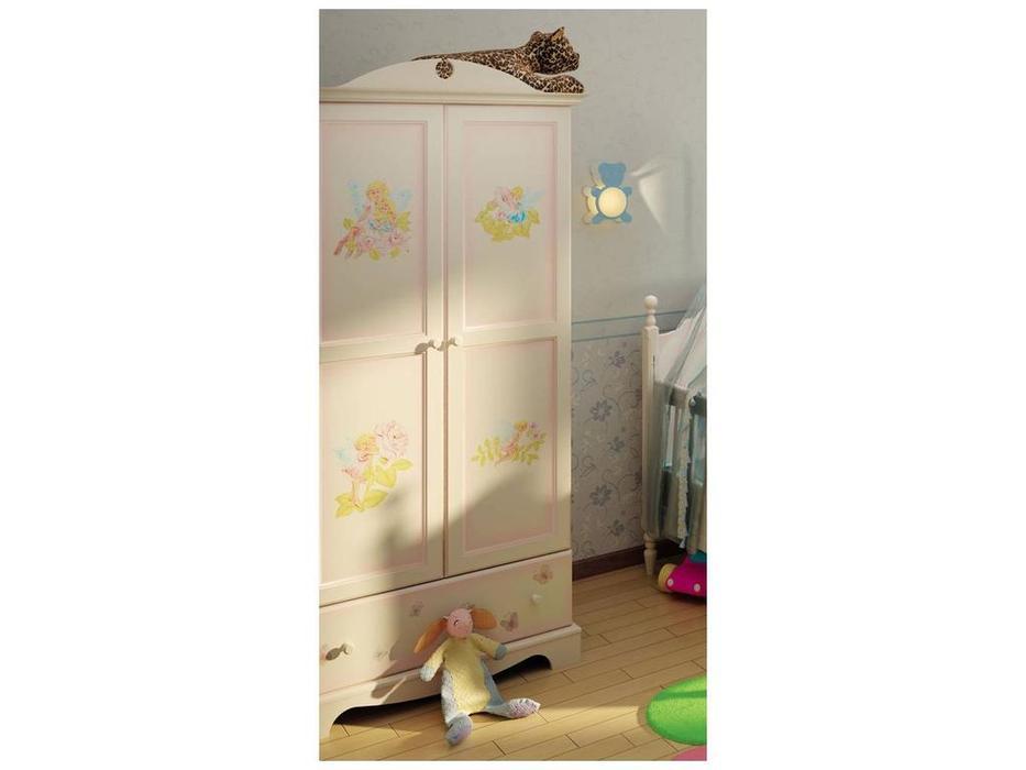 De Luxe: Любимая сказка: шкаф 2-х дверный (слоновая кость, без росписи)