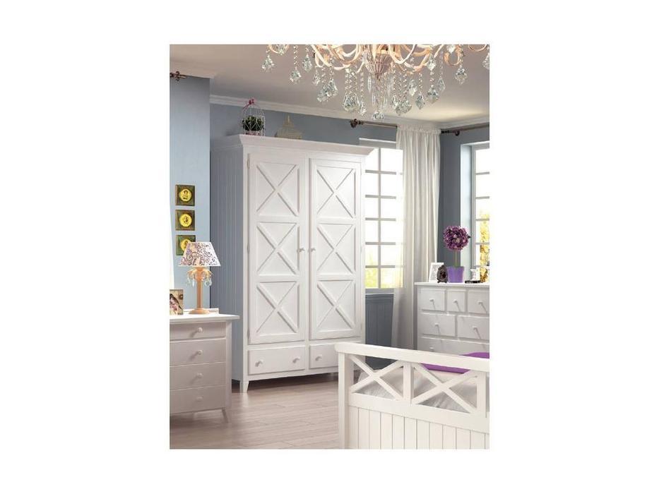 De Luxe: Океан: шкаф 2-х дверный (белый)