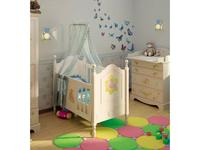 De Luxe: Любимая сказка: кровать детская 65х125 (слоновая кость, без росписи)