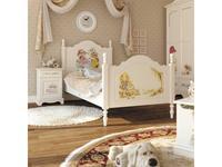 De Luxe: Любимая сказка: кровать резная 90х150 (слоновая кость, роспись)