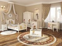 De Luxe: Любимая сказка: детская комната с кроватью 90х150 (слоновая кость, роспись)