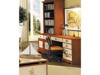 De Luxe: Любимая сказка: стол письменный H.76см (орех, роспись)