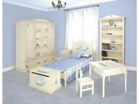 De Luxe: Любимая сказка: детская комната с кроватью 90х190 (белый, роспись)