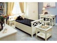 De Luxe: Океан: кровать односпальная 120х200 (белый)