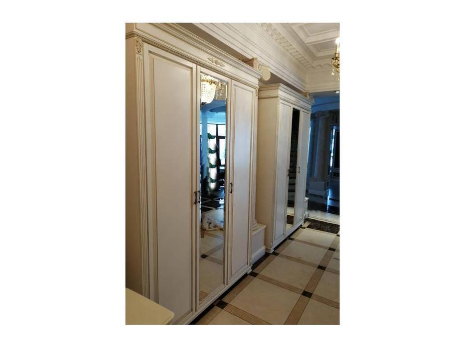 Arco: Decor: шкаф 3 дверный (белый, патина)
