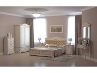 Arco Decor: Esperansa: спальная комната с 2-х дв шкафом  (белый, патина- коричневая)
