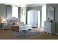 Arco Decor: Esperansa: спальная комната с 3-х дв шкафом  (белый, патина- коричневая)