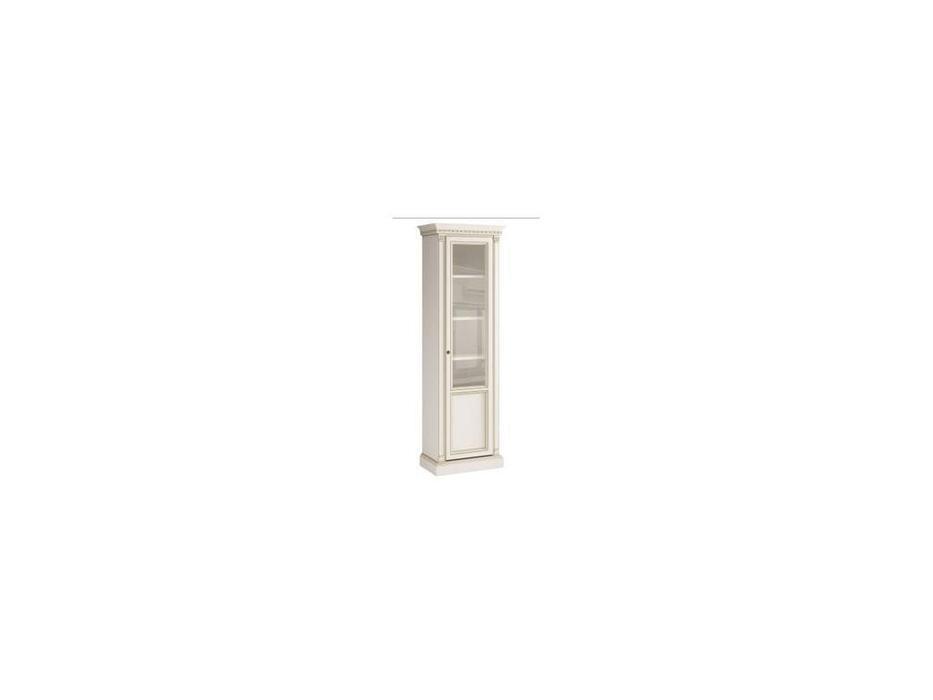 Свобода: Флоренция: шкаф книжный  правый (белый, золото)