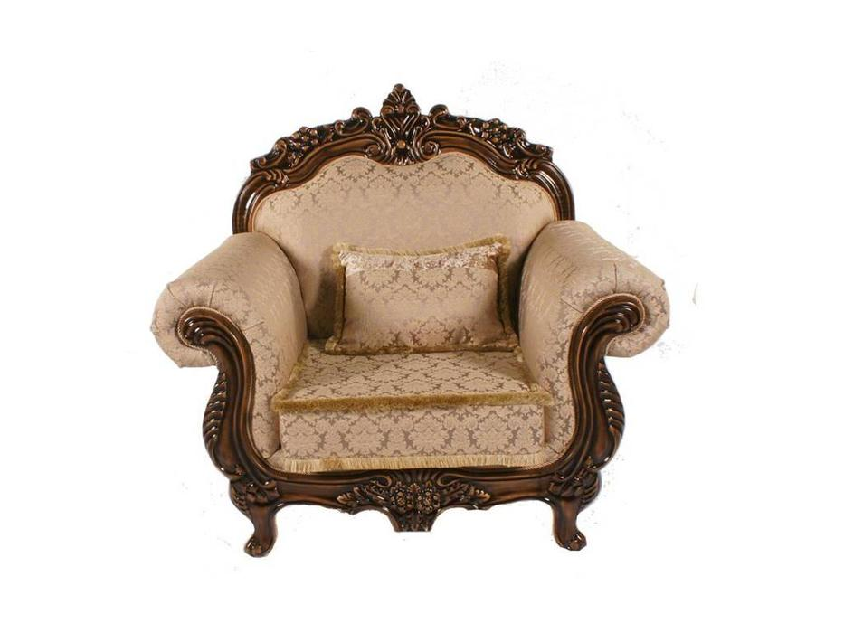 Beloni: Малетти: кресло (орех, ткань)