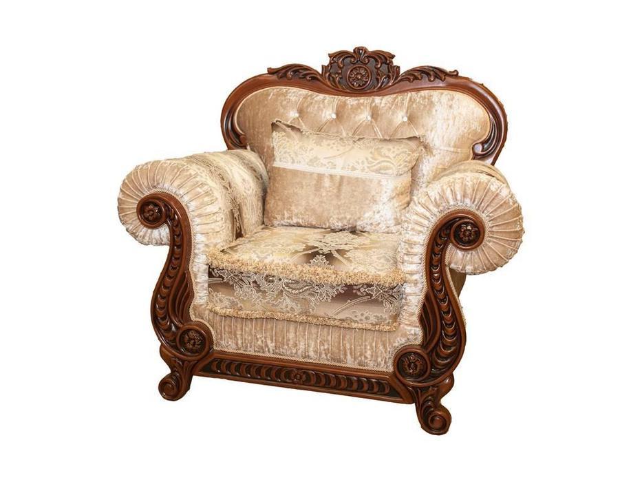 Beloni: Филомена: кресло (орех, ткань)