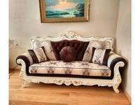 Beloni: Кастелано: диван 3-х местный раскладной (слоновая кость, золото)