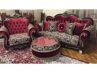 Beloni: Патриция: комплект мягкой мебели (темный орех, золото)