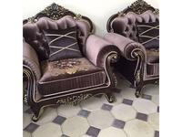 Beloni: Патриция: кресло (темный орех, золото)