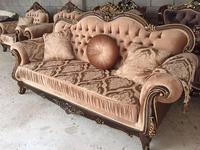 Beloni: Патриция: диван 3-х местный (темный орех, золото)