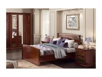 Liberty: Сильвия: кровать 140х200  с кованым элементом (орех милано)