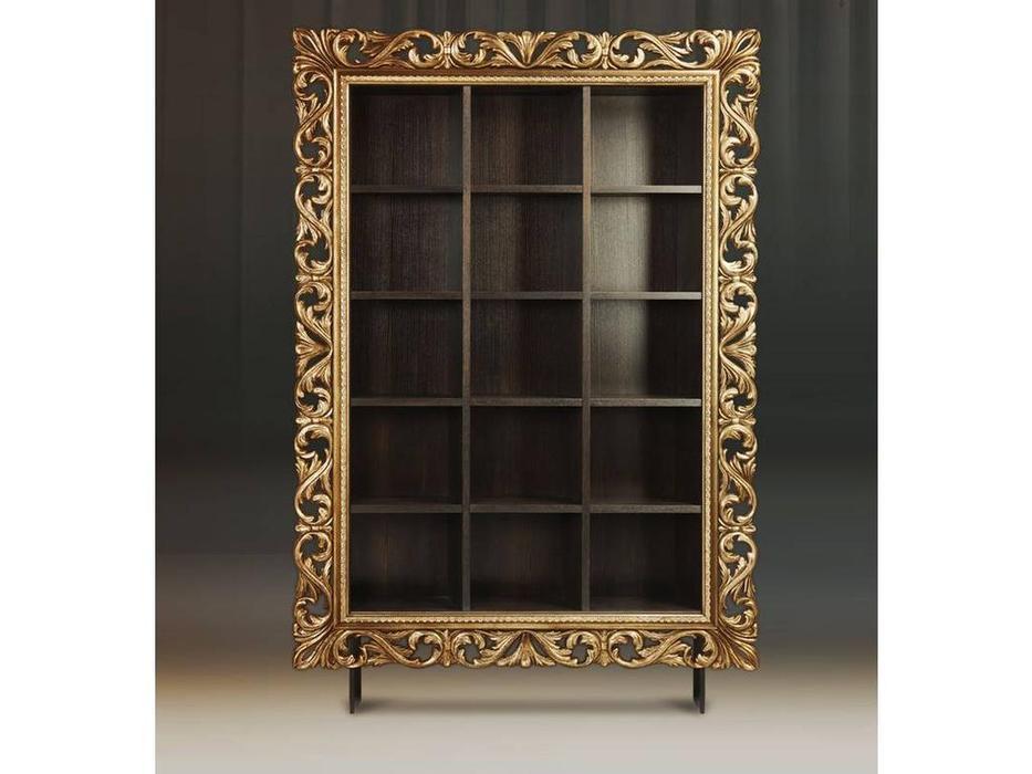 Tivoli: Винченцо: стеллаж для книг (мореный дуб, голд)