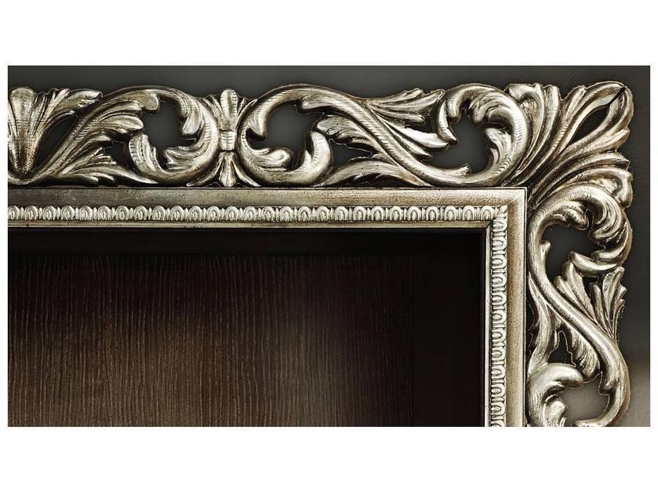 Tivoli: Винченцо: шкаф книжный с дверцами (мореный дуб, сильвер)