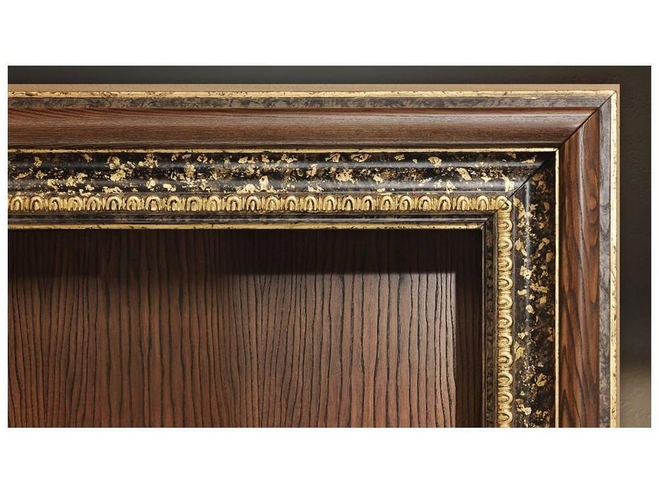 Tivoli: Фоджи: шкаф книжный с дверцами (роберто, фреска-голд)