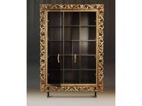 Tivoli: Винченцо: шкаф книжный с дверцами (мореный дуб, голд)