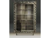 Tivoli: Винченцо: шкаф книжный с дверцами (глейс, сильвер)