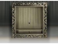 Tivoli: Винченцо: панель под ТВ с полкой (глейс, сильвер)