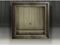 Tivoli: Фоджи: панель под ТВ с полкой (глейс, фреска сильвер)