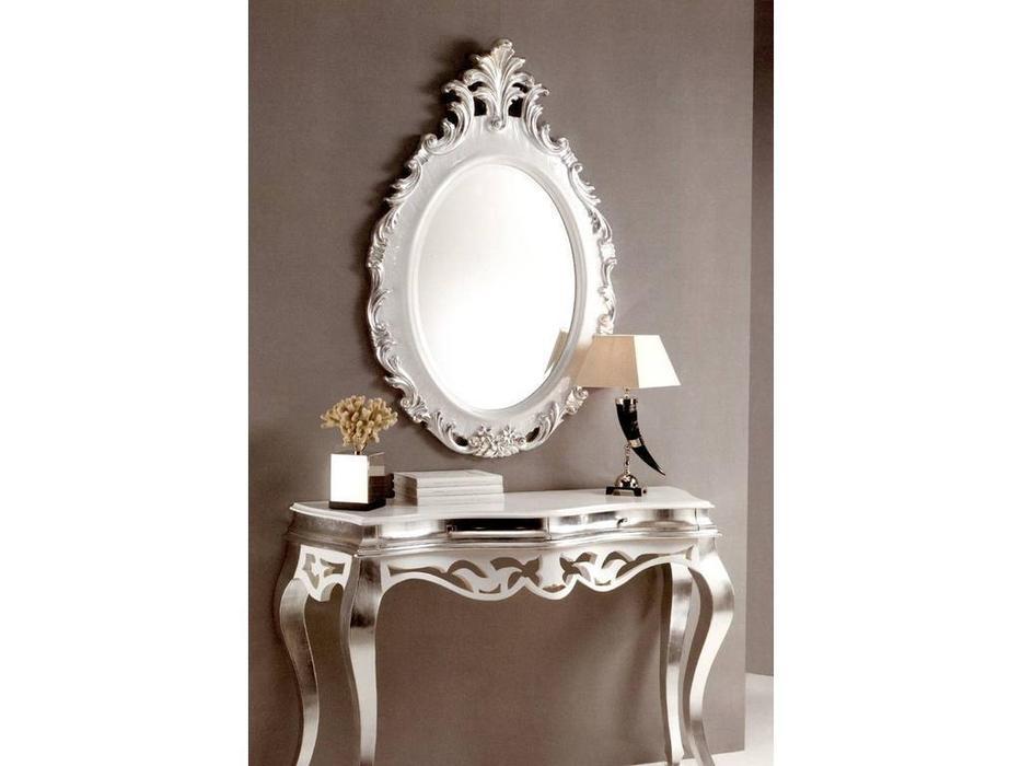 MoWa: зеркало настенное  (серебро, белый)