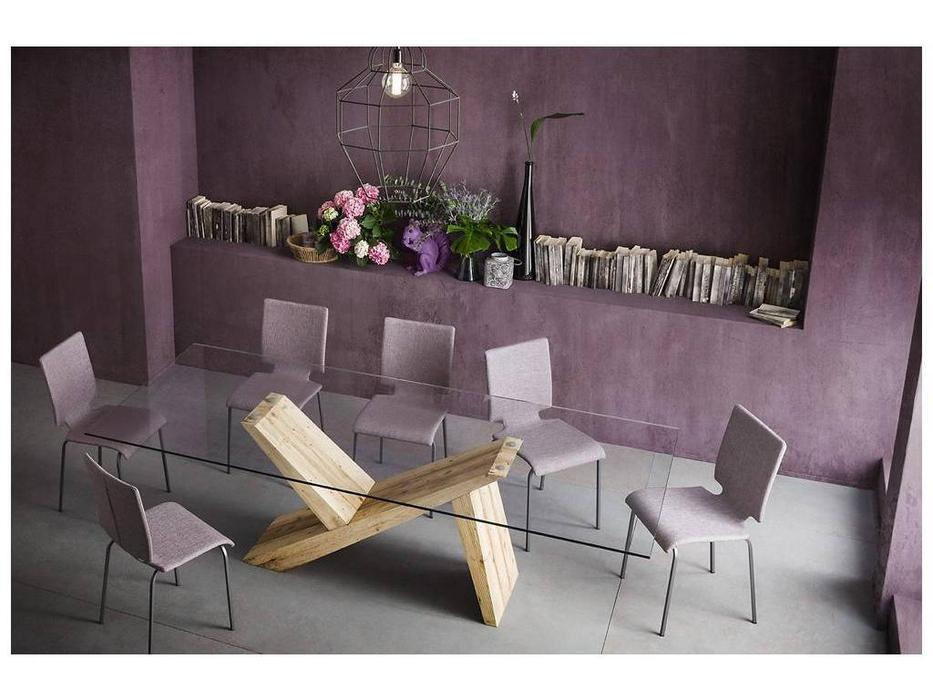 Sedit: Tabia Big: стол обеденный  (дуб, стекло)