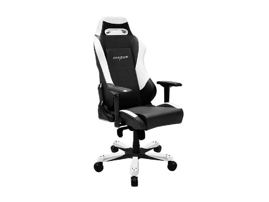 DXRacer: Iron: кресло компьютерное  (черный, белый)