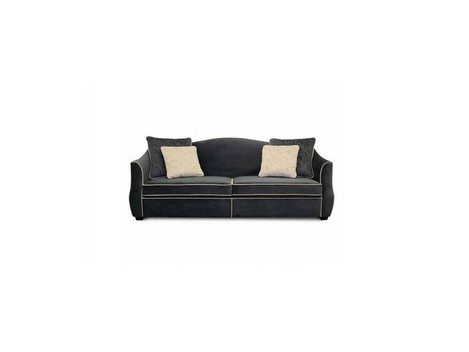 Liberty: Bergamo: диван 3-х местный  раскладной ткань (черный)