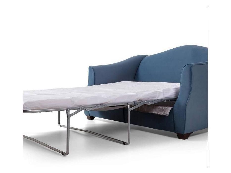 Liberty: Bergamo: диван 3-х местный  раскладной ткань (синий)