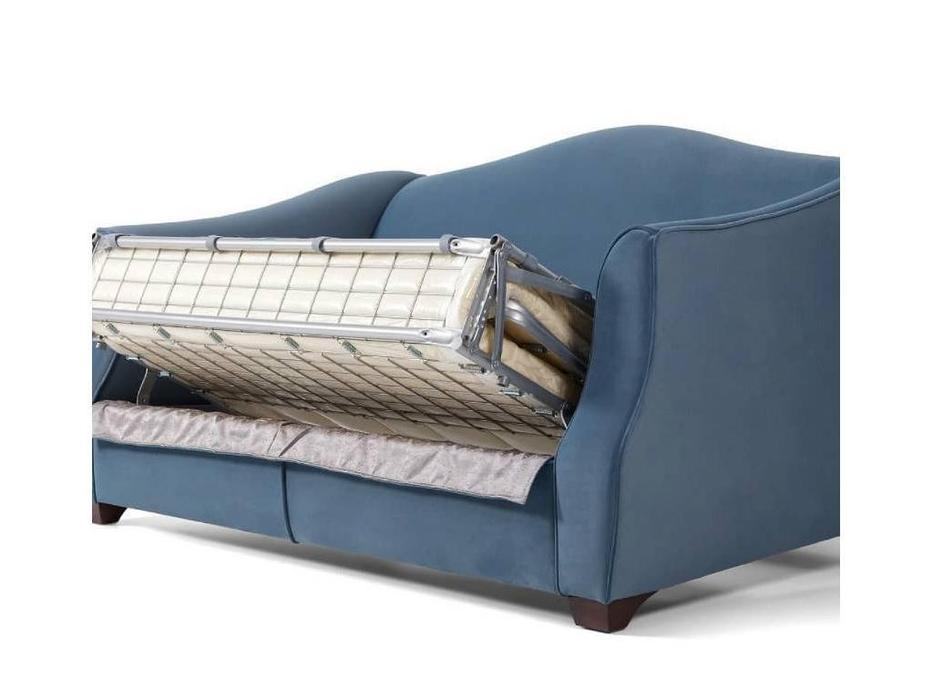 Liberty: Bergamo: диван 3-х местный  раскладной (синий)