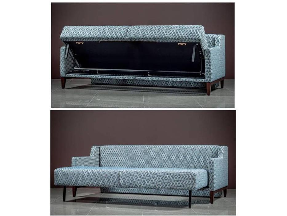 Liberty: Бруни: диван 3 местный  раскладной Бруни-1 (голубой)