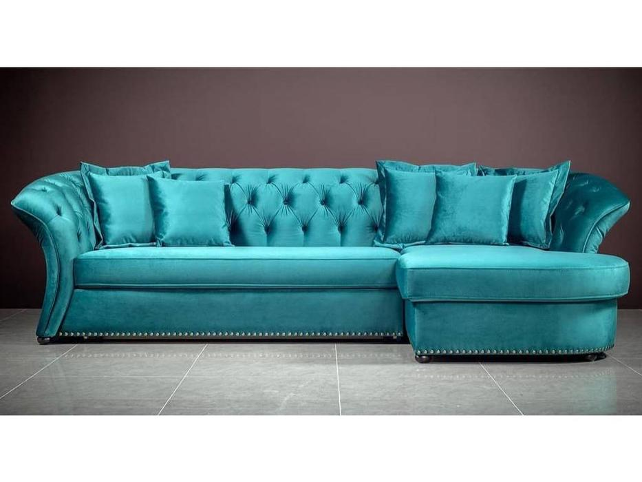 Liberty: Родео: диван угловой  раскладной (бирюзовый)
