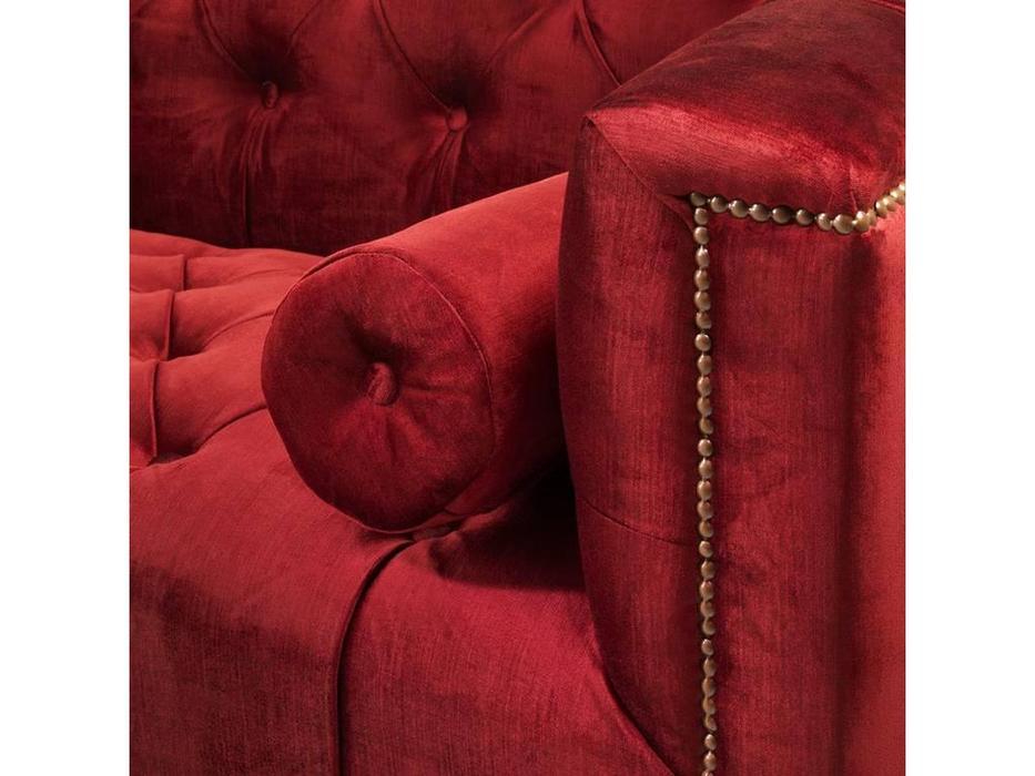 Eichholtz: Davidoff: диван 3-х местный  (красный)