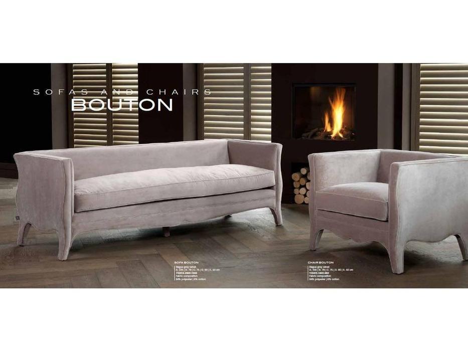 Eichholtz: Bouton: диван 3-х местный  (серый)