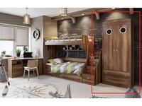 Triya: Навигатор: шкаф 2-х дверный  с иллюминатором (дуб каньон)