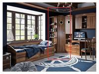 Triya: Навигатор: шкаф угловой  с иллюминатором (дуб каньон)